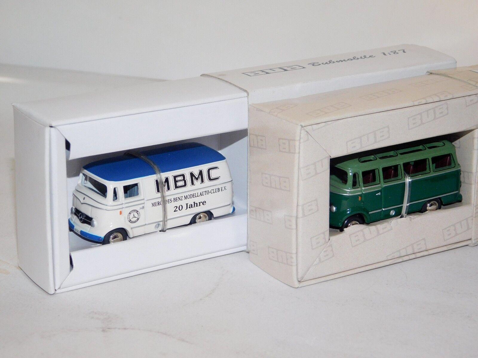 LOT of 2   MERCEDES O319 GREEN & MBMC CLUB BUB 1 87