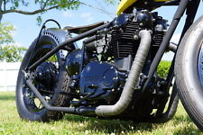 "Pandemonium 1.5"" Raw Hot Rod XS650 Yamaha Drag Lake Pipe Exhaust Chopper Bobber"