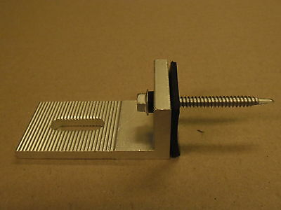 Aluminium 'L Foot' extrusion with tin screws and rubber mats - Solar Panel Mount
