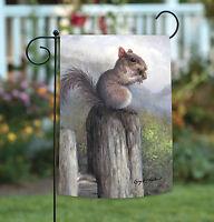Toland - Acorn Squirrel - Cute Wildlife Fence Outdoors Garden Flag