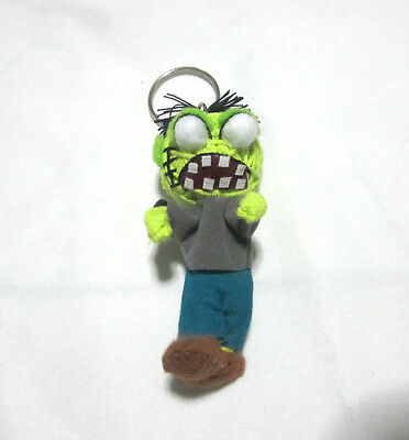 Zombie Type 1 Voodoo String Doll Keychain Ornament Accessory (Thai handmade)