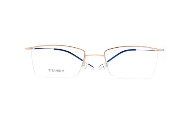 Pure Titanium Eyeglass Frames Halfrim Lightweight Flexible Glasses ...