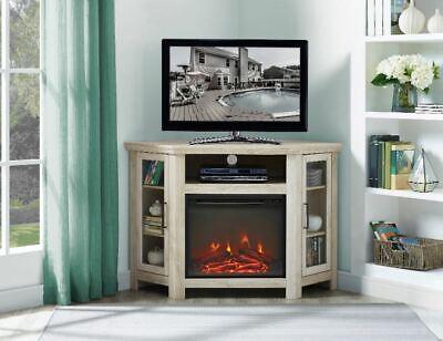 Cool Electric Fireplace Corner Tv Stand Free Standing Fire Heater Cabinet Furniture Ebay Interior Design Ideas Philsoteloinfo