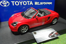 TOYOTA MR2 Spyder 2000 LHD Rouge red au 1/18 AUTOart 78711 voiture cabriolet
