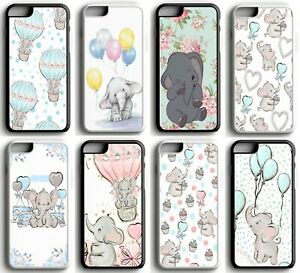 Disney-Dumbo-Baby-Floral-Watercolour-Hard-Case-Cover-for-iPhone-5-SE-6-7-8-X-XR