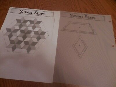 Plastic quilt template Blazing Star