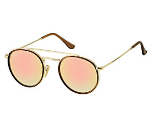 debcd682601 Ray-Ban Round Double Bridge 001 7O Gold Frame Copper Gradient ...