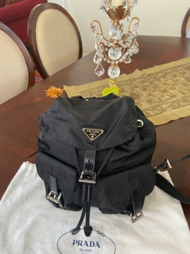 Prada Authentic Small Black Nylon Backpack