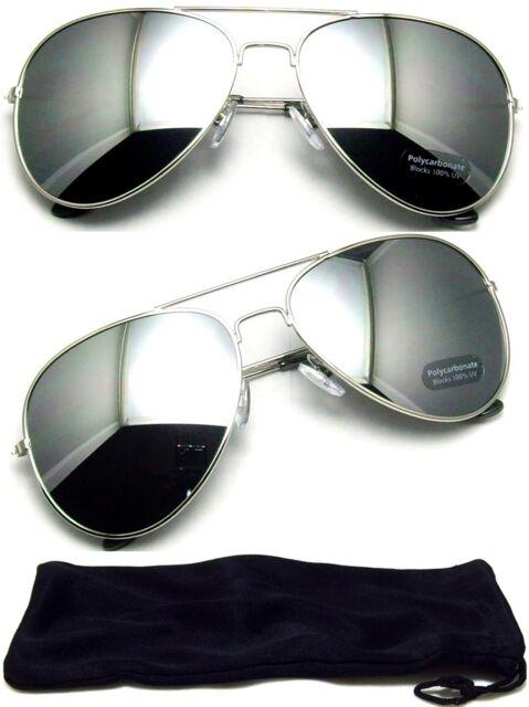 Aviator Sunglasses Vintage Mirror Lens New Men Women Fashion Frame Retro Silver