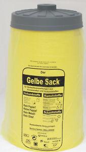 2. Wahl - Sacktonne gelb mit Deckel gelber Sack Ständer Müllsackständer