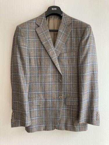 Canali Men's Suit Jacket 36 Cupro Blue Plaid Sport