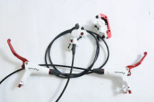 PROMAX CAPSULE DSK908 WHITE HYDRAULIC DISC BRAKE SET 800mm + 1275mm UK or EURO