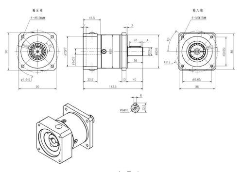 Nema 17 23 34 Planetengetriebe Drehzahlminderer Getriebekopf 3//5//8//20//30//40//50:1
