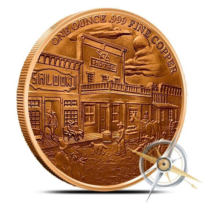 Prospector Series 1oz .999 copper round Prospector