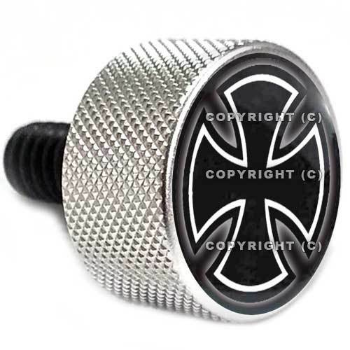 """Silver Billet /""""Iron Cross/"""" Knurled Bolt for Harley Seat Mounting to Rear Fender"""