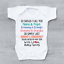 Embarazo Bebé anuncio Niñera Abuelo Bebé Crecen Chaleco Body /&