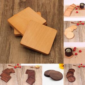 Wooden Beech / Black Walnut Tea Coffee Cup Pallet Mat Mug Bowl Pad Coaster