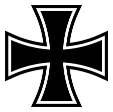 Premium Aufkleber Iron Cross Eisernes Kreuz Autoaufkleber Auto Sticker 8x8 cm