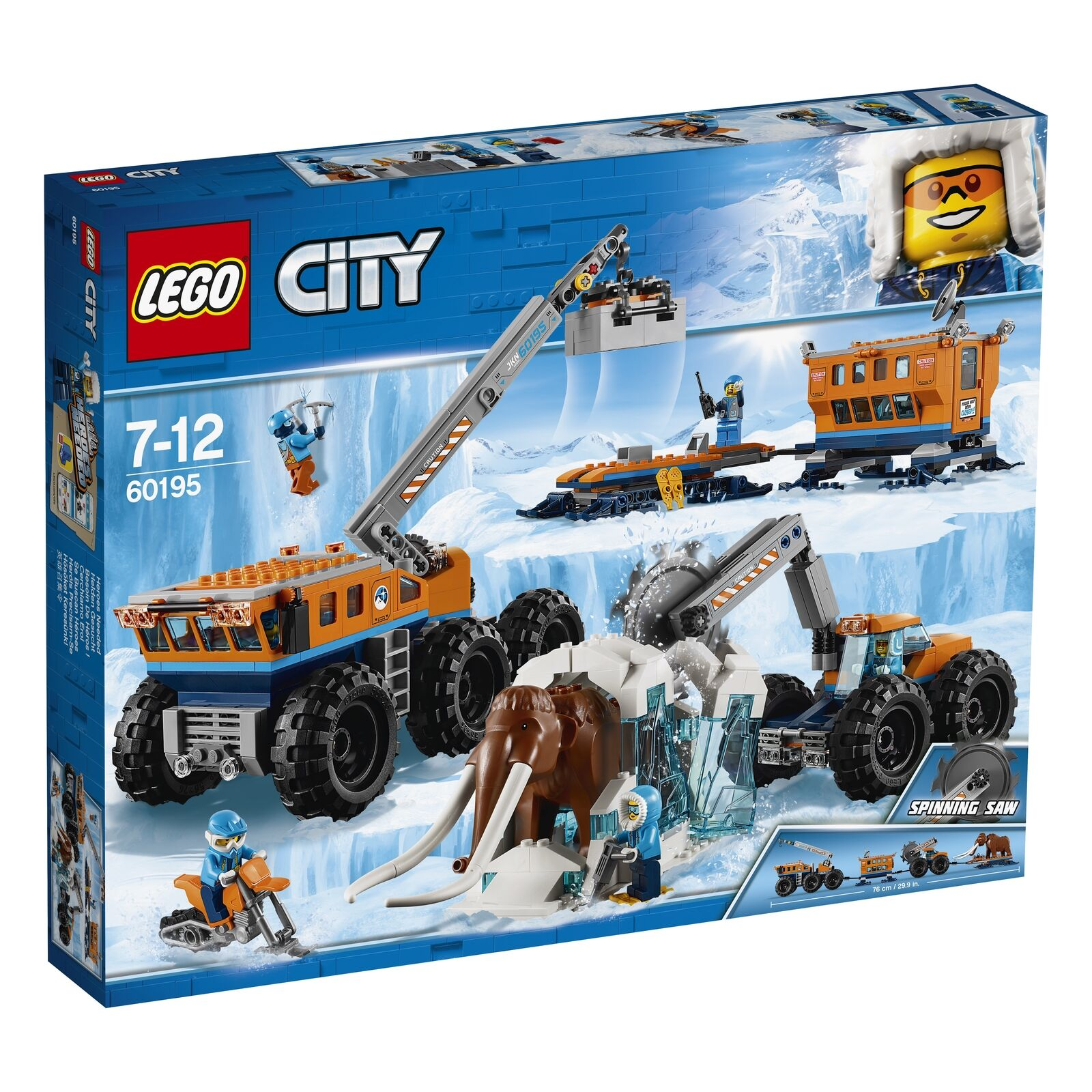 60195 LEGO City Arctic expedition arctique mobile d'exploration base 786Pcs 7 Ans