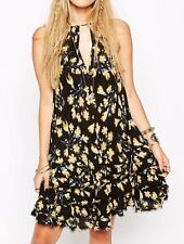 free people intimately NEW ruffle feather slip mini dress in black combo S $88