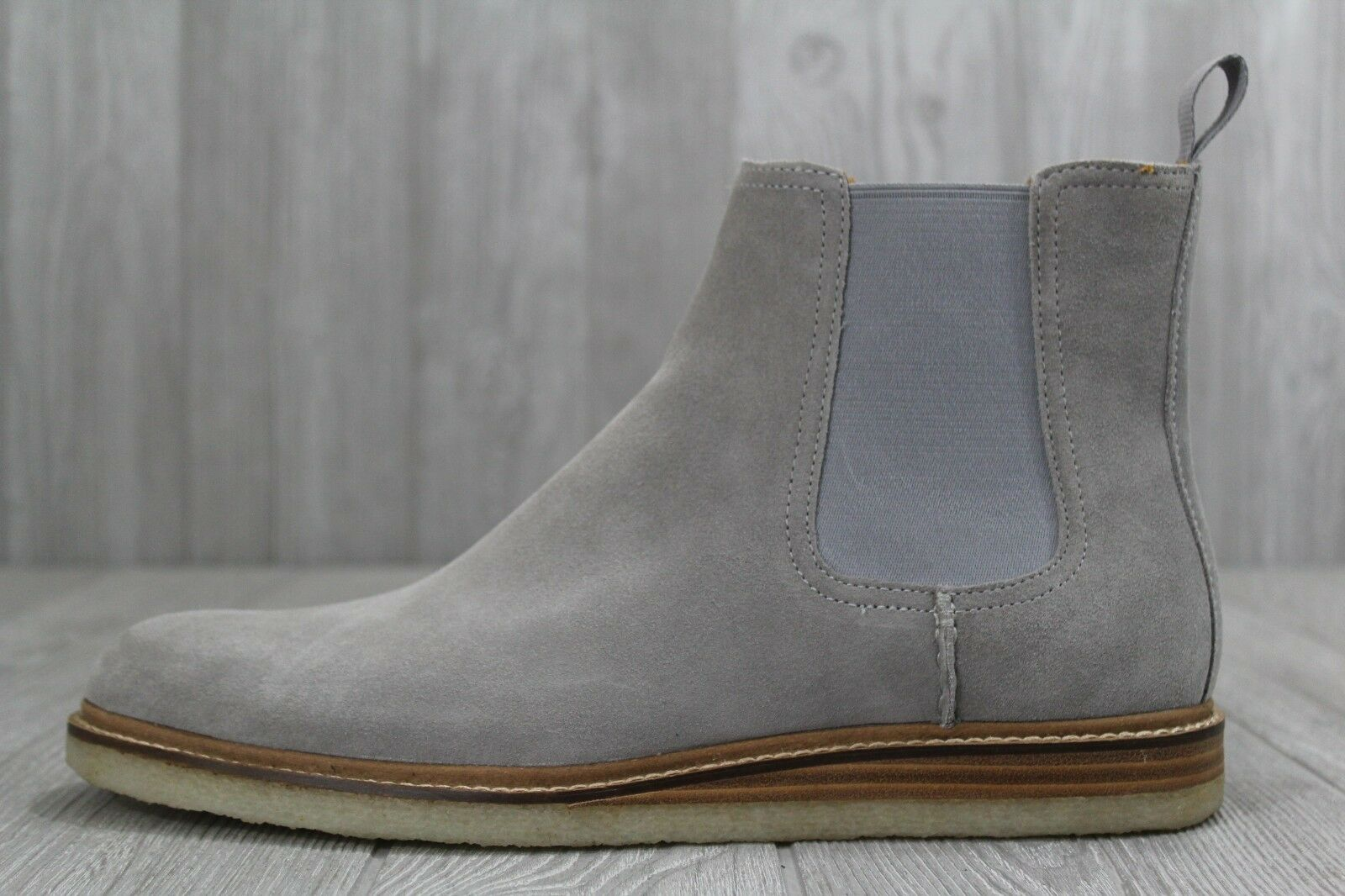33 Mens Sperry gold Cup Crepe Sole Suede Chelsea Boots 10-11.5 Grey Slip On  230