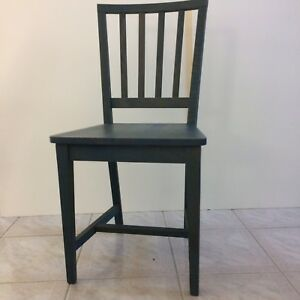 POTTERY BARN Vintage 90\'s Wood Dining Kitchen Bedroom Chair Blue ...