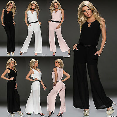 Sexy Clubbing Women Maxi Jumpsuit Stylish Summer Ladies Playsuits size 6 8 10 12