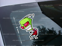 Angry Invader Zim Cartoon Decal Sticker Free Ship