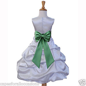 SILVER-BRIDESMAID-PAGEANT-HOLIDAYS-PARTY-FLOWER-GIRL-DRESS-2-3-4-6-8-10-12-14-16