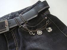 Jeans mode FEMME Onado noir délavé avec ceinture taille M 38 effet usé