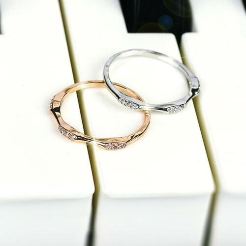 14k gold 9 Tiny Diamond Exquisite Small Fresh Ladies Engagement Ring neu