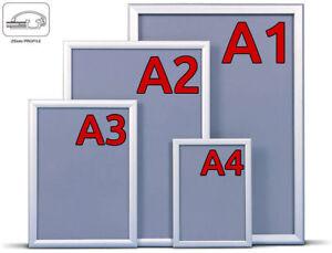 alu klapprahmen din a1 a2 a3 a4 plakatrahmen wechselrahmen posterrahmen rahmen ebay. Black Bedroom Furniture Sets. Home Design Ideas