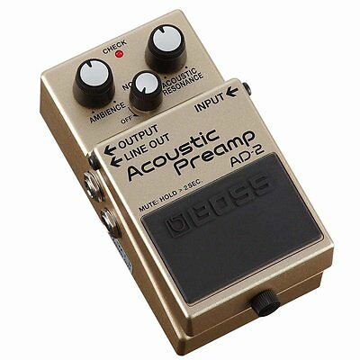 new boss ad 2 acoustic preamp guitar effects pedal from japan 4957054509828 ebay. Black Bedroom Furniture Sets. Home Design Ideas