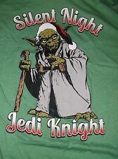 STAR WARS YODA SILENT NIGHT JEDI KNIGHT CHRISTMAS X-MAS T-SHIRT XL X-LARGE NEW