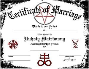Satanic-Certificate-of-Marriage-Wedding-Love-Devil-Goth-Soul-Pagan-Spirit-Magic