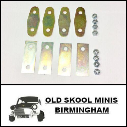 Classic Mini Kit de montaje interno de bisagra de la puerta placas de zinc Separadores /& Tuercas CC3