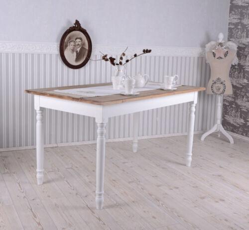 Salle à Manger Table Shabby Chic Table à manger blanc Table de Cuisine Salon Table Maison de campagne