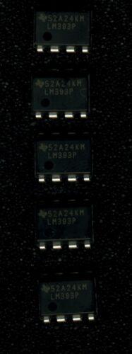 Lot de 5 x LM393P Double comparateurs Texas Instruments