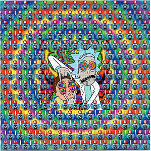 signed by zane kesey rick and morty tripping blotter art lsd tabs