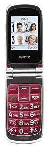 Senioren-Handy-OLYMPIA-Style-plus-grosse-Tasten-klappbares-Mobiltelefon-rot