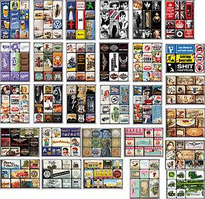 NOSTALGIC-ART-Kuehlschrank-Magnet-Set-9-teilig-Viele-Motive-zur-Auswahl