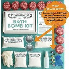 Bath Bomb Making Kit with 100% Pure Therapeutic Grade Essential Oils, Makes 12
