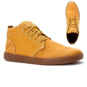 yellow timberland leather chukkas