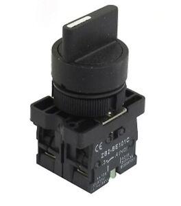 22mm-3-pos-posicion-2NO-conexion-mantuvo-seleccionar-Selector-rotativo-Interruptor-3A