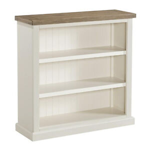 Image Is Loading St Ives Painted Small Bookcase Linen White Low