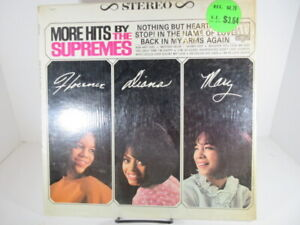 The Supremes LP, More Hits By The Supremes, Motown 627, Shrink 1965, VG+ c VG+