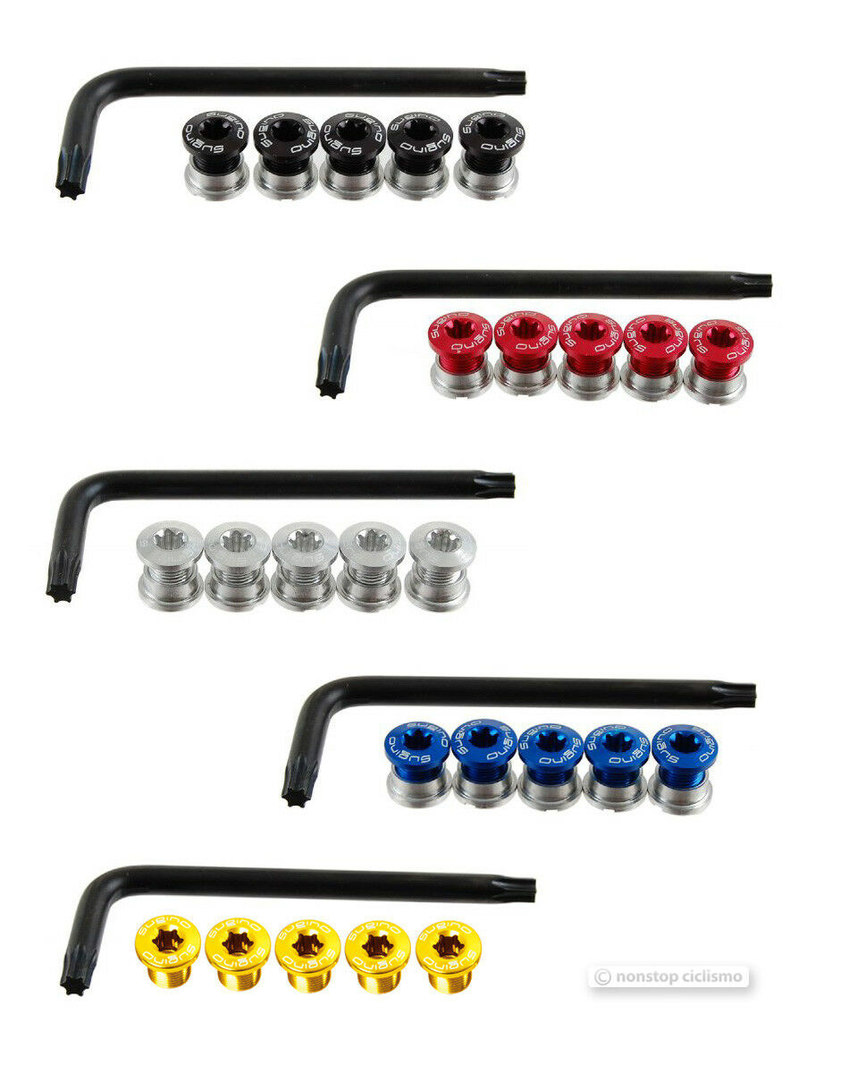 NEW Sugino Anodized Alloy Fixed Gear Fixie Single Chainring Bolts  Bolt Set  save up to 50%