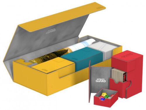 CASE Card Storage Box Deck MTG ULTIMATE GUARD SUPERHIVE AMBER XENOSKIN FLIP 550