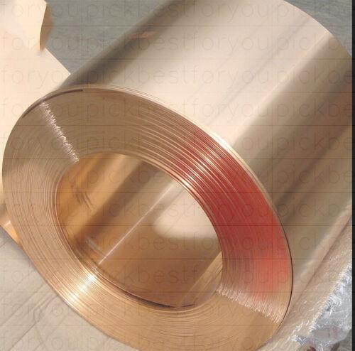 1000mm ML45 QL 1X Copper Beryllium Alloy BeCu C17200 Foil Sheet 0.25mm 200mm