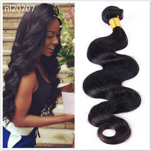 HOT-1-Bundle-Brazilian-Wavy-Human-Hair-Body-Wave-Virgin-Unprocessed-Hair-Weave